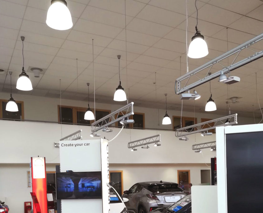 Improved car sales area experience