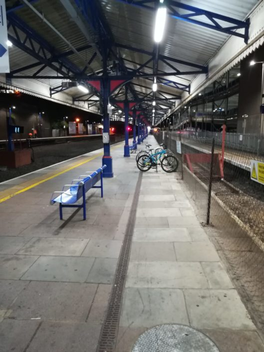 Replacement lighting installation to railway platforms at High Wycombe railway station.