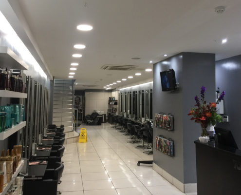 Highlights more stunning following LED lighting installation for Toni & Guy hair salon in Hereford.