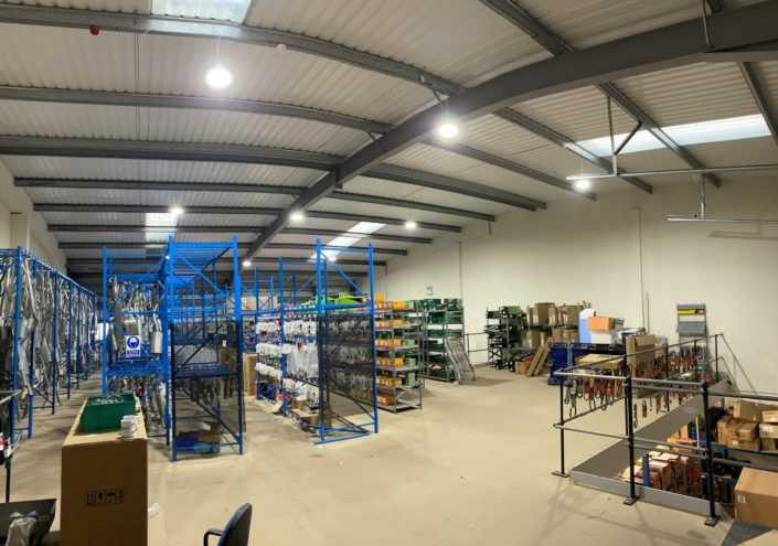 Stock easier to find thanks to LED warehouse lighting for Bennetts Car Parts, Shrewsbury, Shropshire.