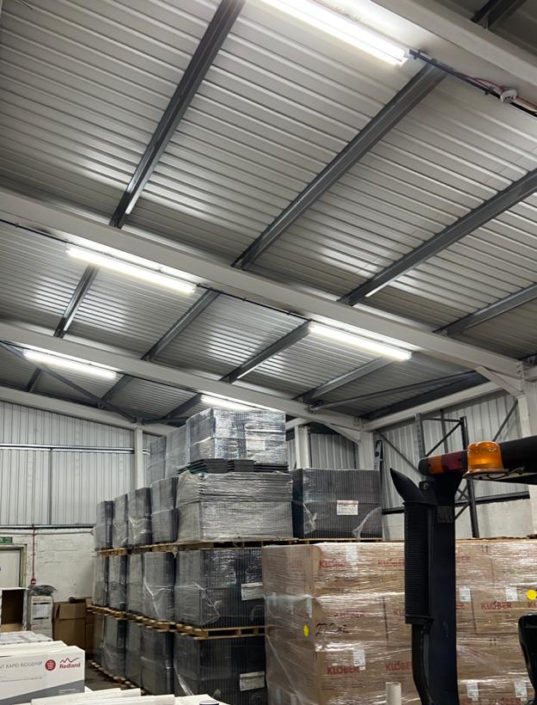 LED lighting installed in two days with minimal disruption for Scoatia Insulation in Coatbridge, Scotland.