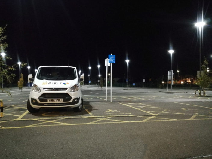LED street lighting installation at Aylesbury Vale Parkway car park achieves savings of 70%.