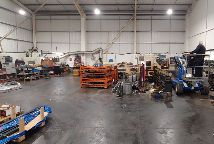 Productivity improved by LED lighting for West Lancs Precision, engineers in Skelmersdale, Lancashire.