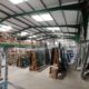 Safer manufacturing conditions under new LED lighting installed for Lytham Windows, Lancashire.