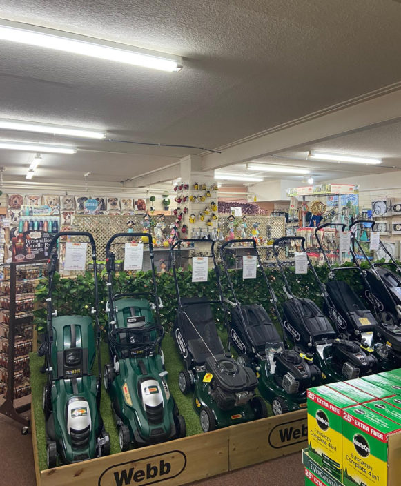 Replacement retail shop LED lighting installation for Heathhall Garden Centre, Dumfries, Scotland.