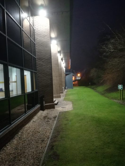 Grounds LED lighting installation to the office headquarters of Cala Homes in Edinburgh, Scotland.