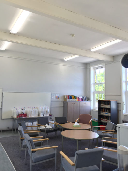 Energy saving tube lighting helps Bishop Auckland school staff room reduce its carbon emissions.