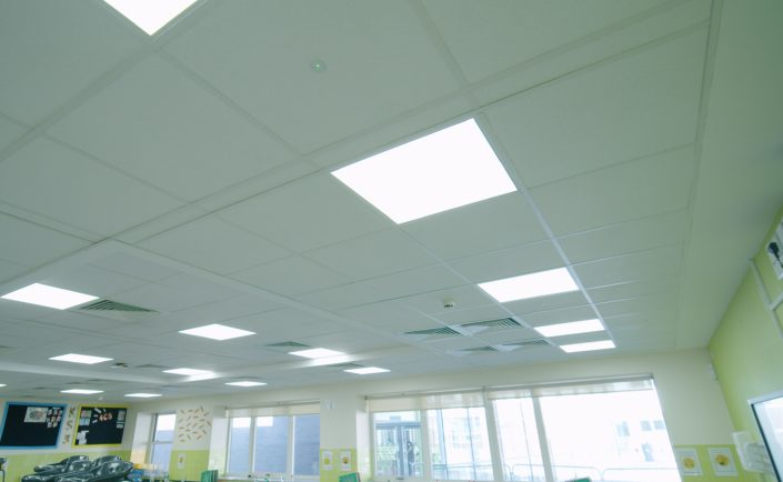 Crisp, bright LED lighting helping to improve learning conditions at a Manchester school.
